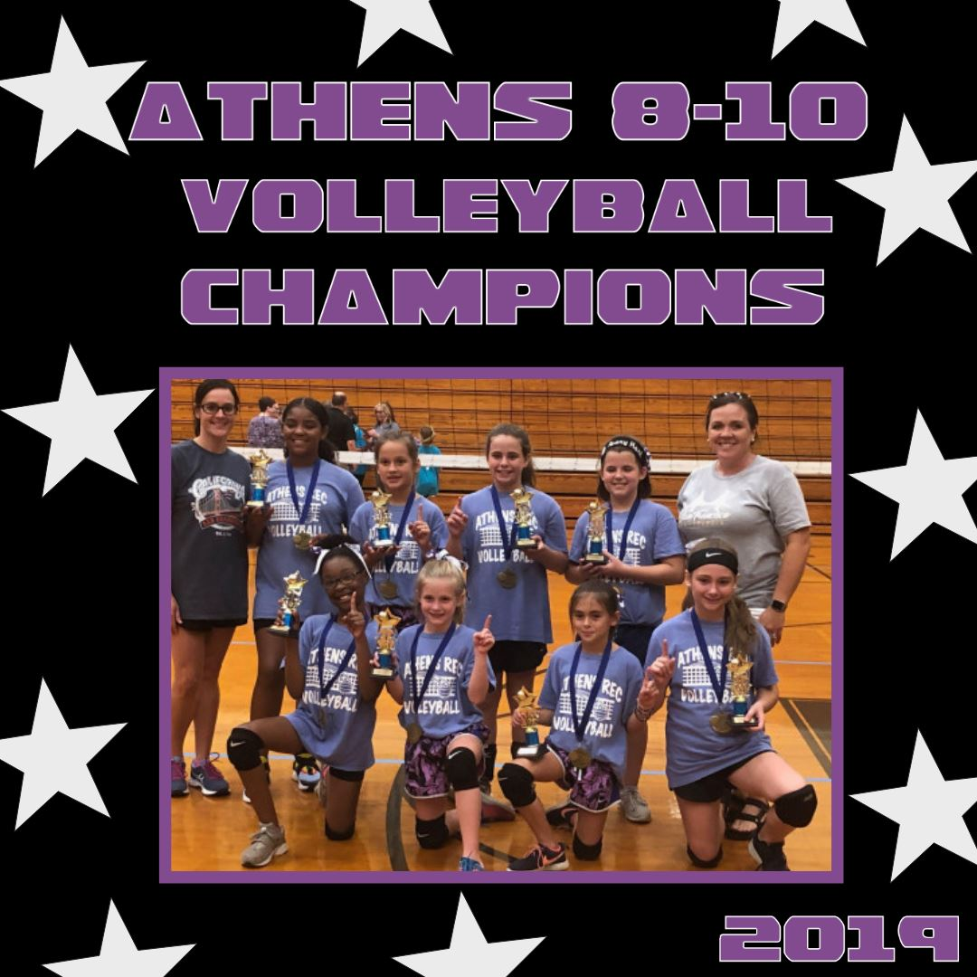 2019 Youth Volleyball 8-10 Champions
