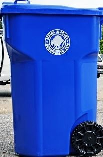Recycling Can with decal