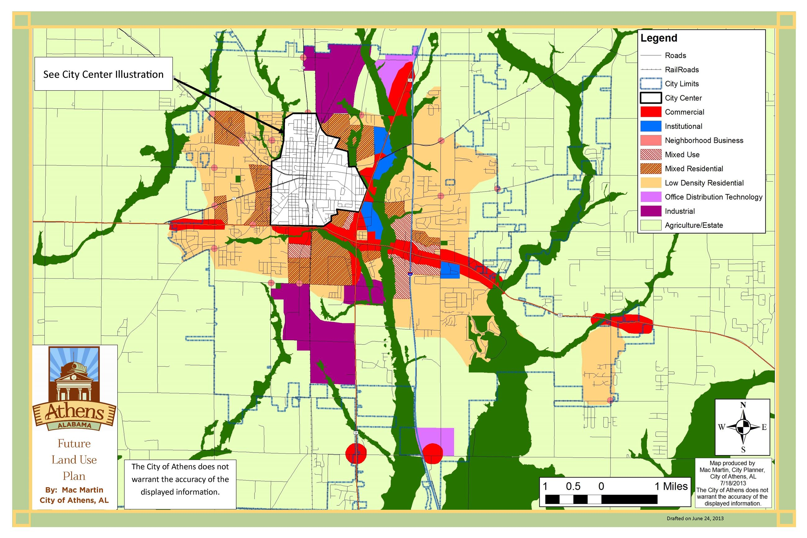 Strategic Development and Land Use Plan 7 map