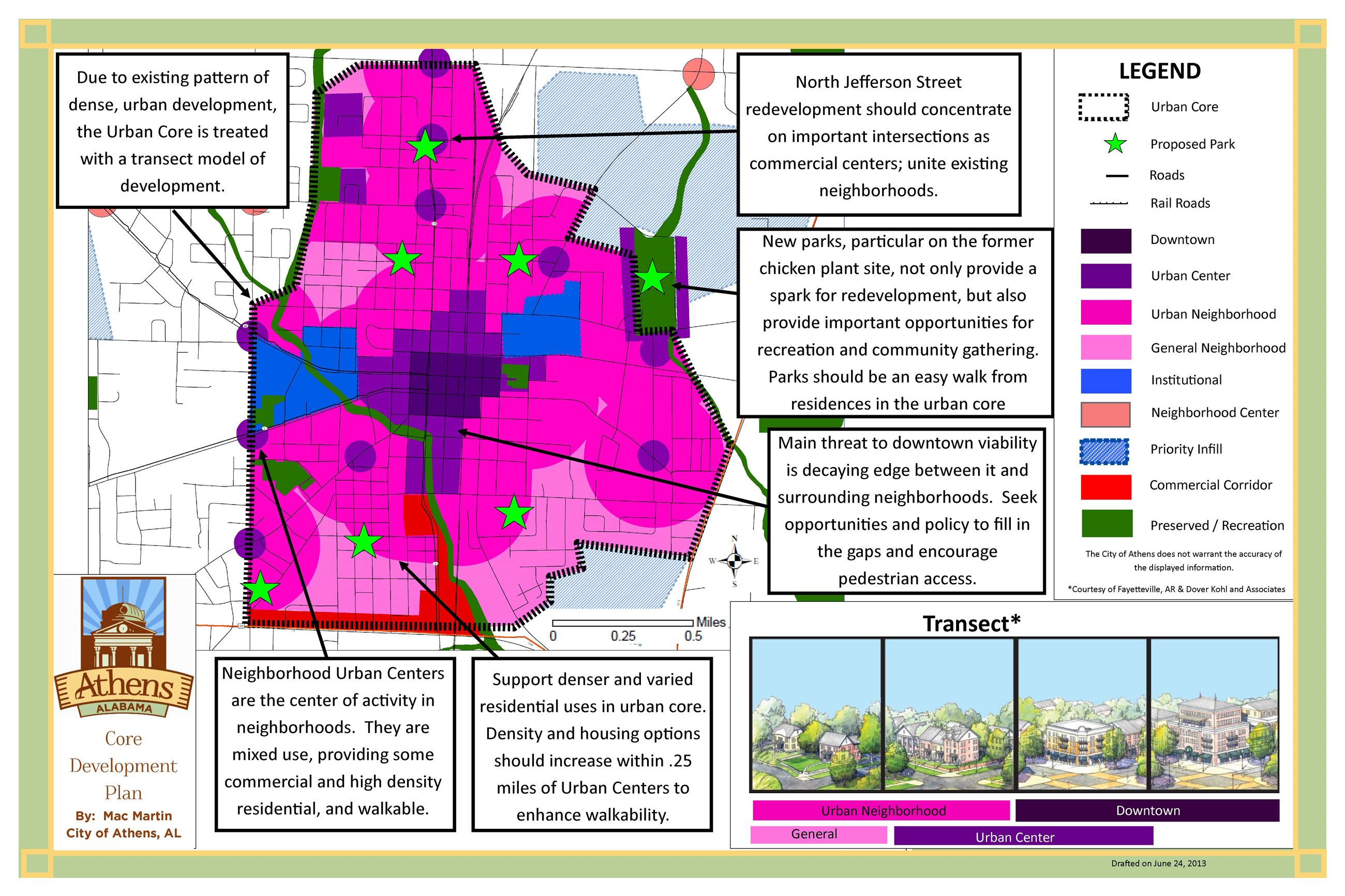 Strategic Development and Land Use Plan 4 map