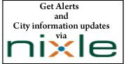 Get alerts and city information updates via Nixle